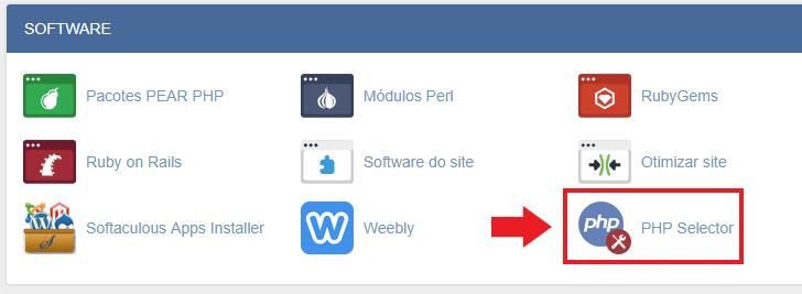 Localização do PHP no cPanel da HostGator