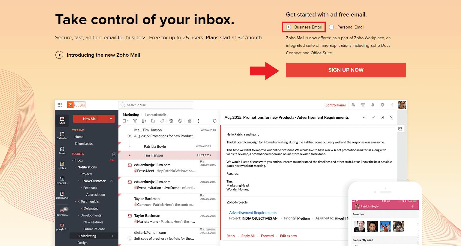 Zoho mail conhea este e mail profissional gratuito e cheio de recursos cadastro zoho mail passo 1 stopboris Gallery