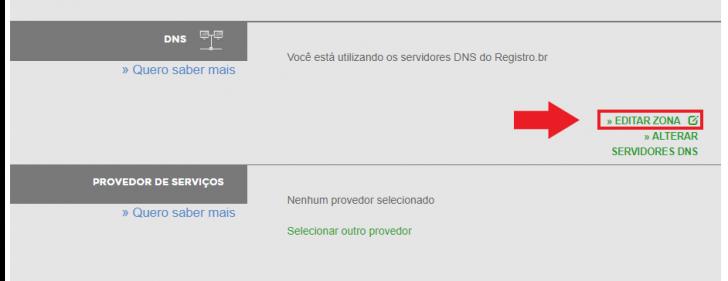 Editar zona de DNS no Registro.br