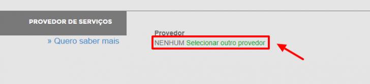 Selecionar outro provedor no Registro.br