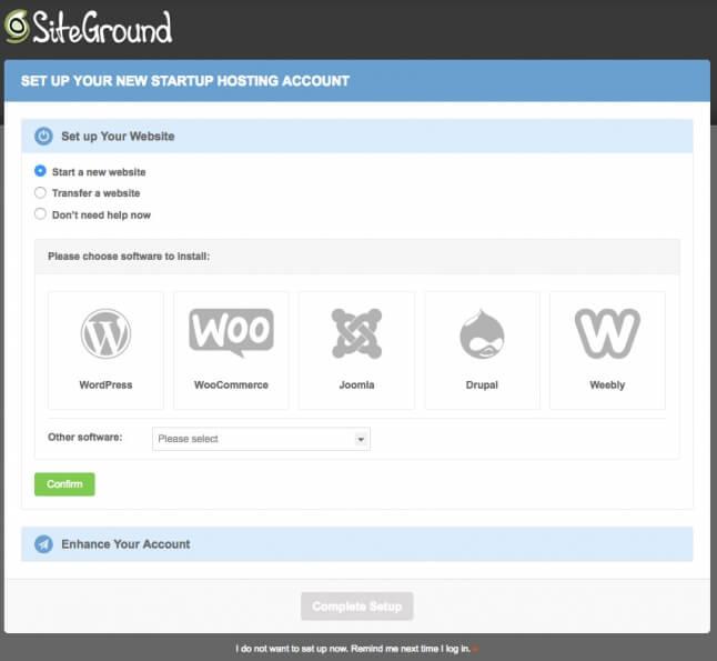 Migração gratuita SiteGround
