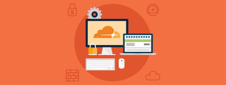 Ilustração de um computador com uma nuvem desenhada na tela
