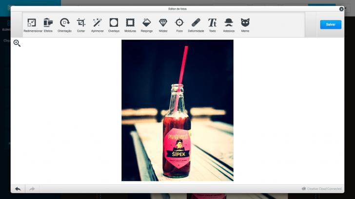 Editor de imagens Criador de Sites Locaweb