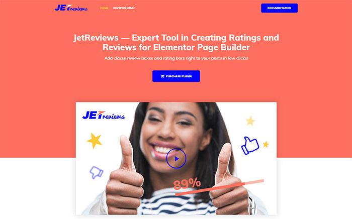 Plugin para Elementor JetReview