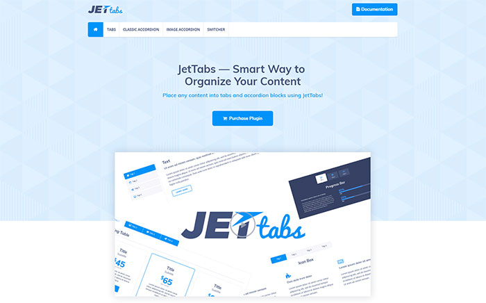 Plugin para Elementor JetTabs