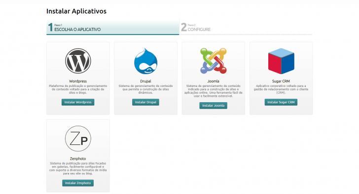 Instalador de aplicativos da Locaweb