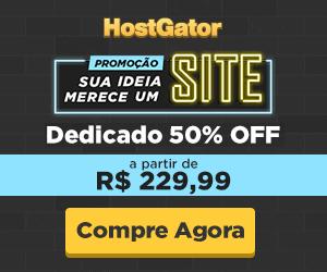 Servidor Dedicado 50% OFF - A partir de R$ 229,99 - HostGator