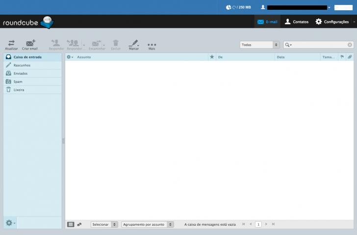 Webmail Roundcube é uma das opções oferecidas no criador de sites HostGator