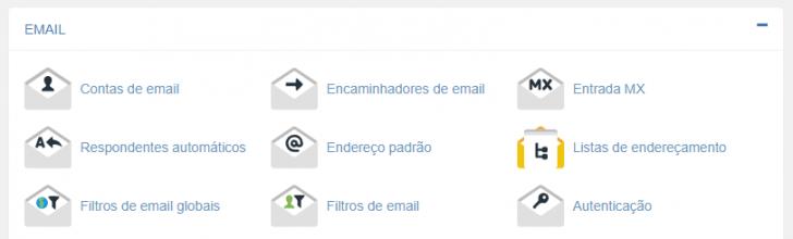 Administração de e-mails no cPanel da hospedagem HostGator
