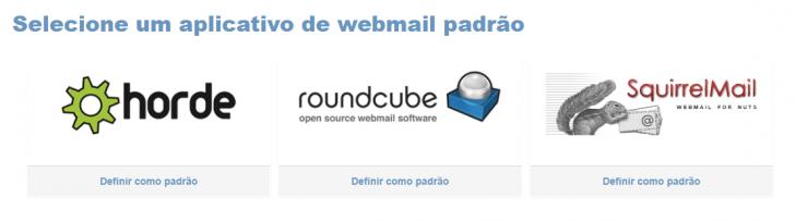 Selecionar plataforma de webmail na hospedagem HostGator