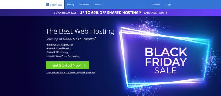 BlueHost também está com ofertas especiais