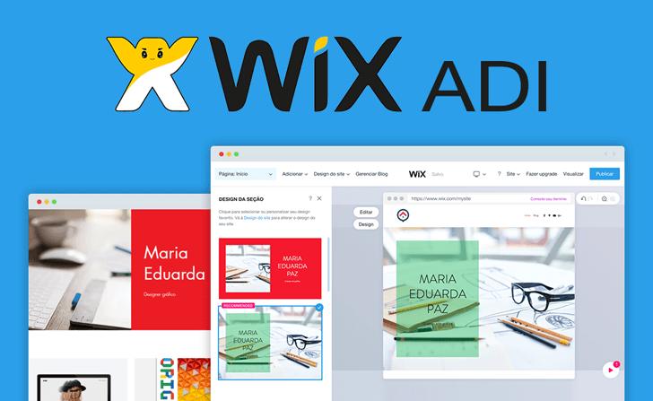 Montagem da tela de edição do Wix ADI