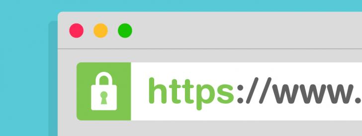 Barra de endereços do navegador exibindo o protocolo https