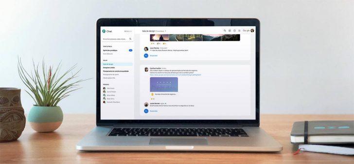 Tela do Hangouts Chat em um computador