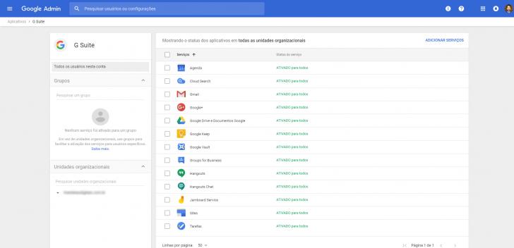 Lista dos principais aplicativos disponíveis no G Suite