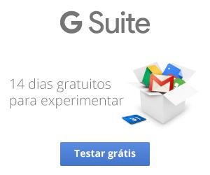 14 dias gratuitos para experimentar o G Suite
