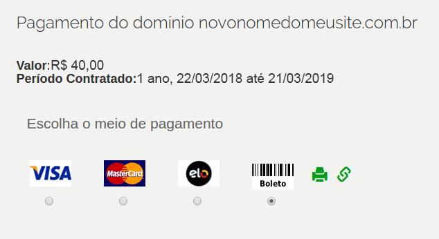 passo 5 - registro.br - formas pagamento