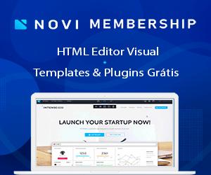 Novi Criador de Sites - editor visual de html, templates e plugins grátis