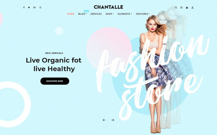 Tema para WordPress Chantalle