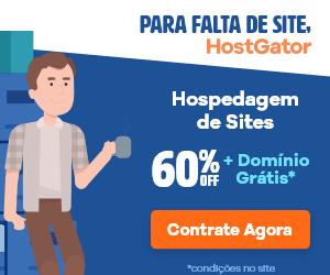 Promoção HostGator - Domínio grátis e 50% de desconto