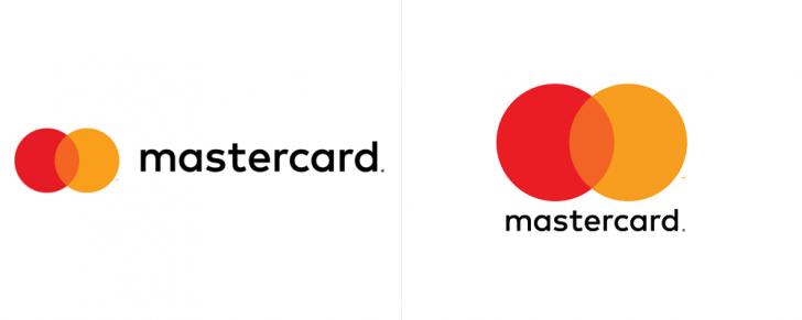 Logotipo da Mastercard no formato horizontal e vertical