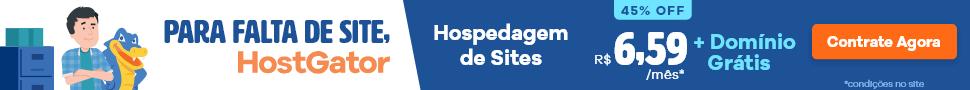 Para falta de site, HostGator: hospedagem com 45% de desconto e domínio grátis. Confira!