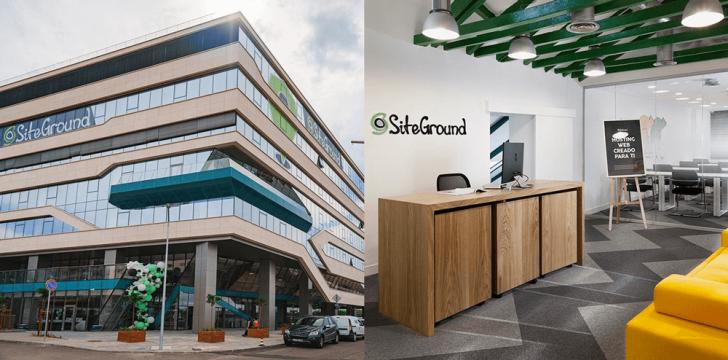 Sede da empresa na Bulgária (à esquerda) e escritório de Madri (à direita)