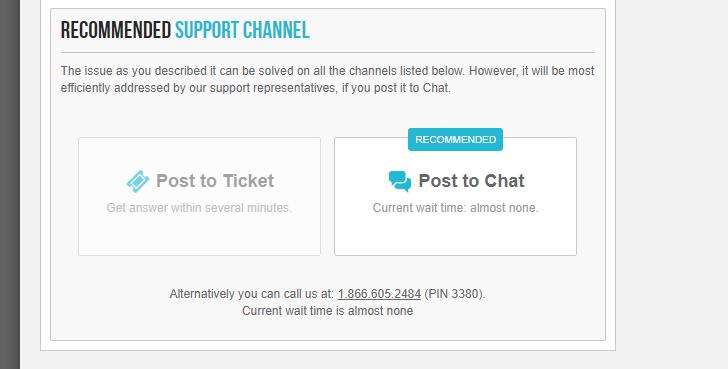 Canais de suporte disponíveis no painel de controle da SiteGround