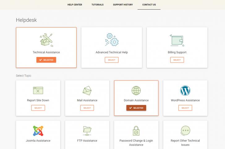 Passos para atendimento no novo painel da SiteGround