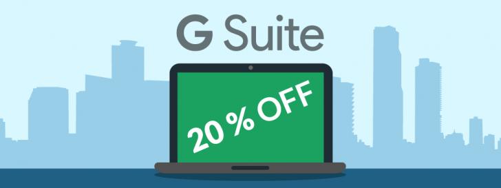 G Suite 20% OFF