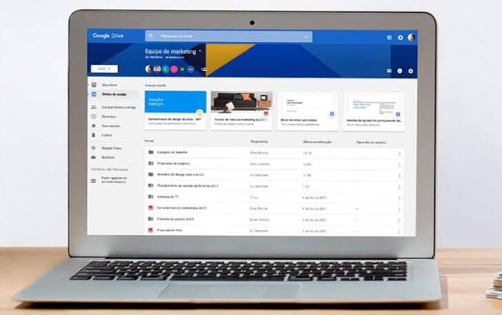 O sistema de armazenamento em nuvem presente no G Suite é o Google Drive