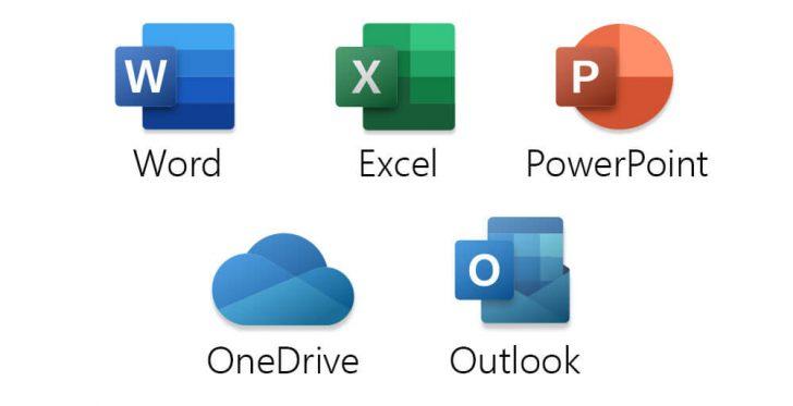 Principais programas encontrados na suíte do Office 365