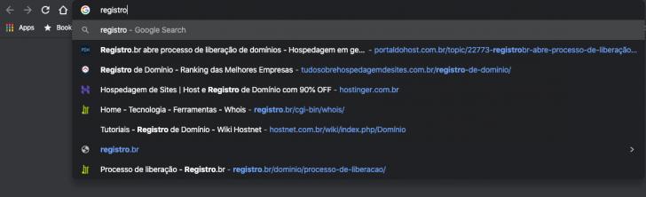Favicon é exibido na lista de navegação do Chrome
