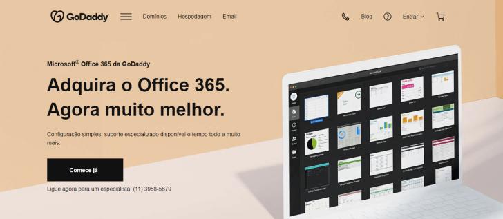 Página do serviço Microsoft Office 365