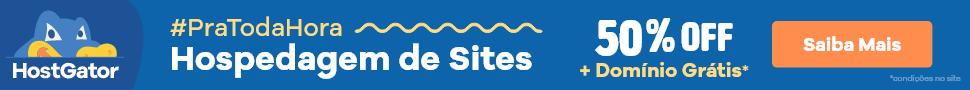 HostGator Hospedagem pra toda hora: planos com 55% de desconto e domínio grátis. Confira!