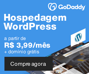 Hospedagem WordPress GoDaddy a partir de R$ 3,99 por mês.