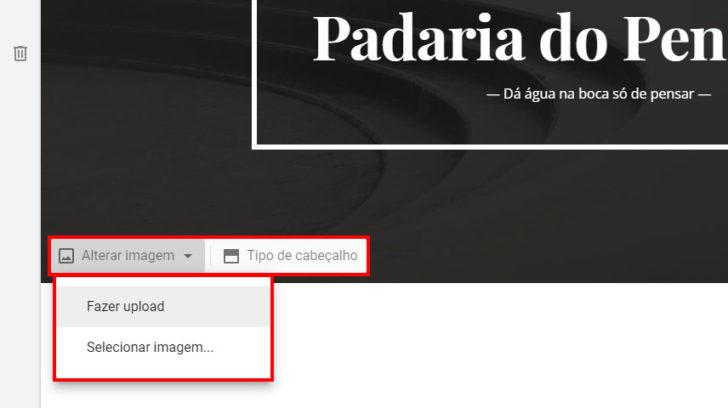 Alterando a imagem de fundo da página inicial do site