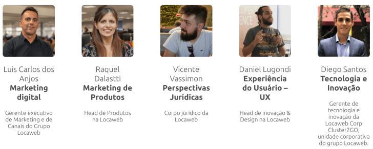 Time de especialistas Locaweb - Imagem: site JuntosNoDigital