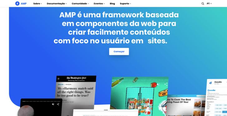 O site do projeto AMP fica em um domínio .dev
