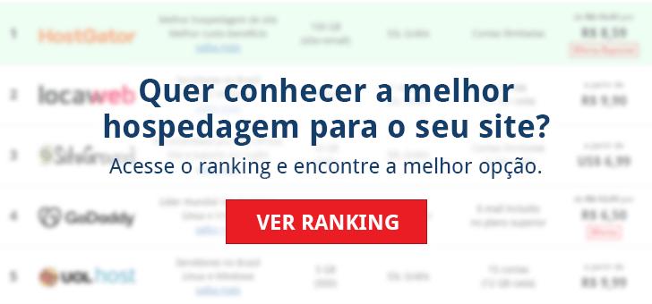Quer conhecer a melhor hospedagem para o seu site? Acesse o ranking e encontre a melhor opção. Ver ranking.