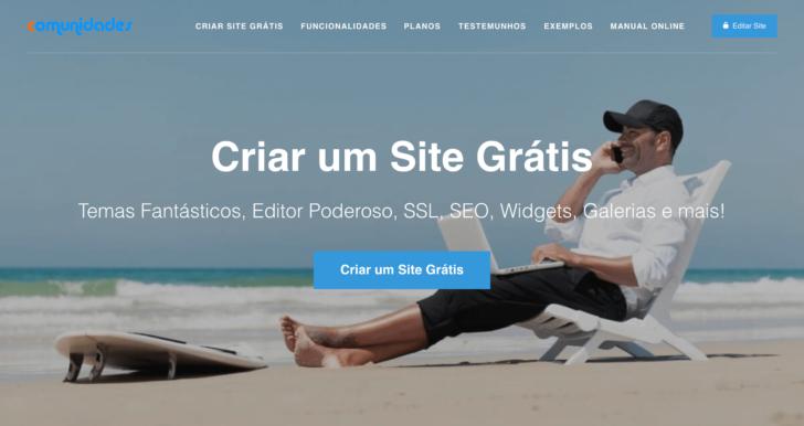 Página inicial do site Comunidades.net