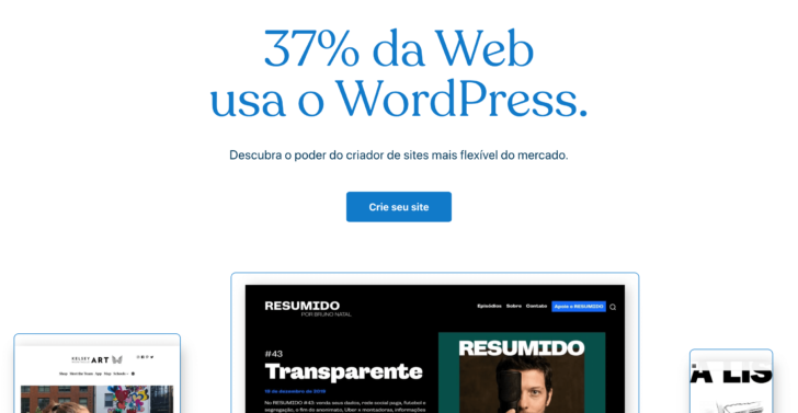 Captura de tela extraída do site WordPress.com