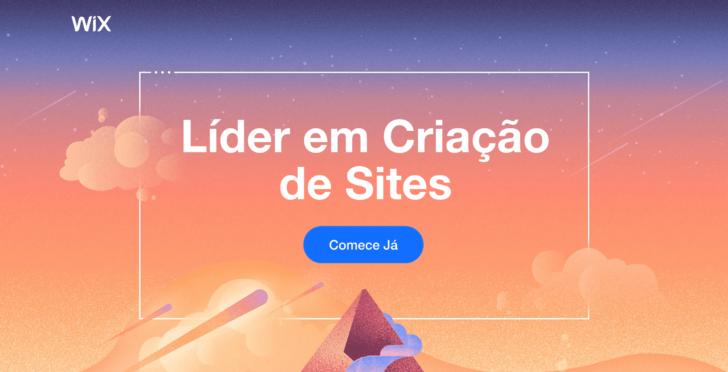 Captura de tela extraída do site Wix. que permite criar sites gratuitamente