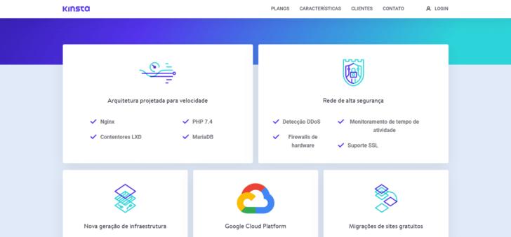 A Kinsta oferece diversos diferenciais em sua infraestrutura, que utiliza os data centers da Google Cloud Platform - Imagem: Kinsta