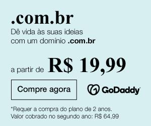 GoDaddy - domínio .com.br a partir de R$ 19,99
