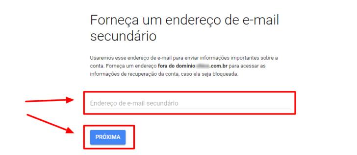 Forneça um endereço de e-mail fora do seu domínio para receber comunicados do Google Workspace