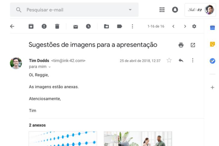 E-mail personalizado com logotipo no Google Workspace