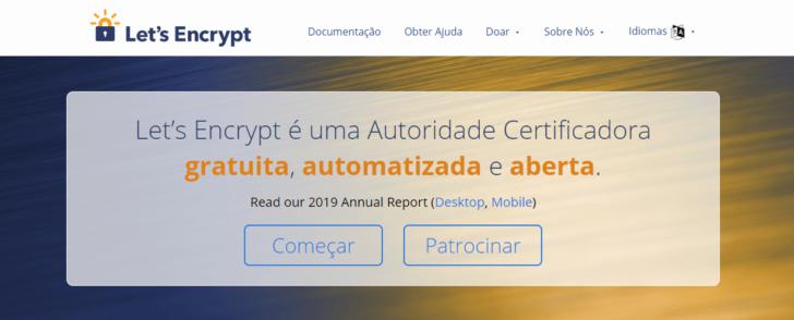 O Let's Encrypt emite certificados SSL gratuitos e está entre os mais utilizados no mundo