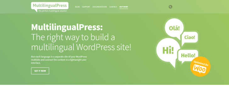Página inicial do MultilingualPress