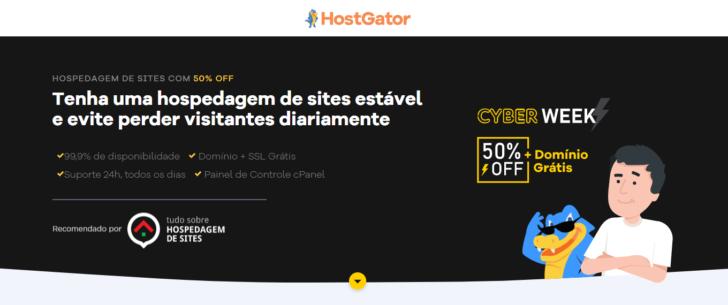 A Black Friday de hospedagem da HostGator oferece 50% de desconto em todos os planos